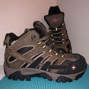 Merrell Mens Sz. 9 Moab 2 Composite Toe Work Boots